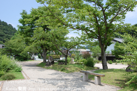 柏原御茶屋御殿跡の公園