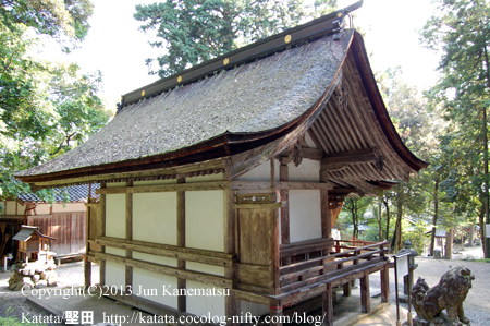 小野篁神社本殿(背面)