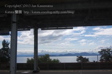 JR湖西線の車窓から(近江舞子駅)