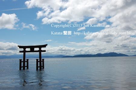 白鬚神社と琵琶湖