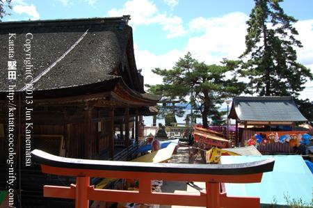 白鬚神社境内(例祭の日に)