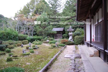 上乗寺と庭園(湖南市三雲)