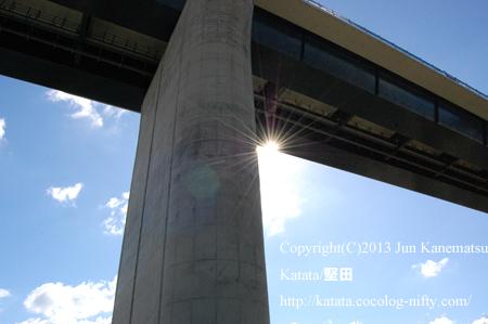 第二名神高速道路の橋脚(甲賀市信楽町黄瀬)