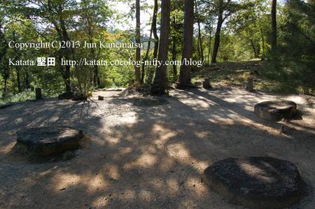 紫香楽宮跡「内裏野地区」の礎石(甲賀市信楽町黄瀬)