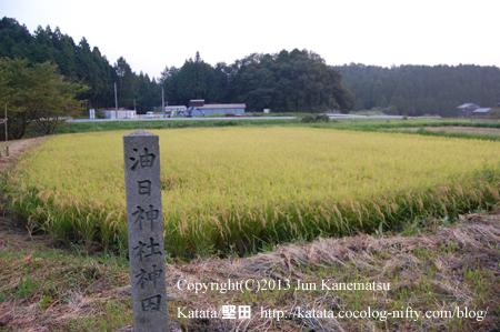 油日神社の神田