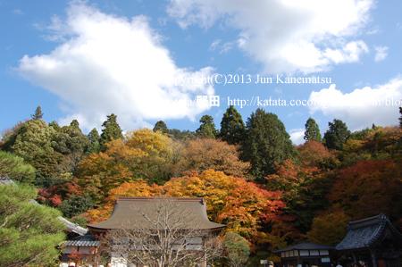 紅葉と百済寺